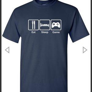 Eat Sleep Game Navy Tee Shirt